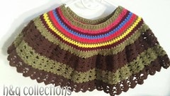 Lacy edged Poncho  #poncho # sale #crochet #h&gcollections