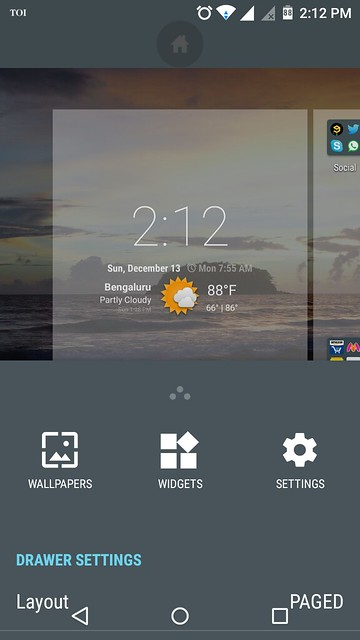 How to change app drawer display in Cyanogen Android phones