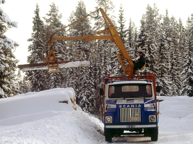 Лесовоз с манипулятором Scania LS140 Timber Truck. 1968 – 1972 годы