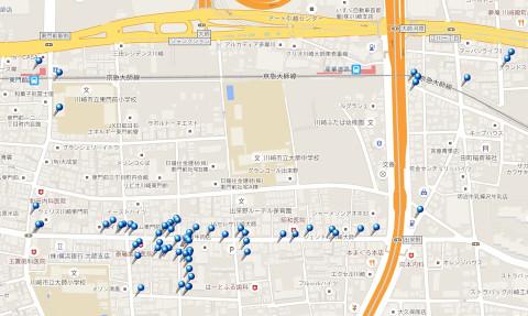 東門前駅〜産業道路駅