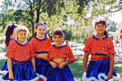 Girls Pose Before Dance Performance, Keller, 1995