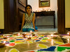 Tiya and her Rangoli
