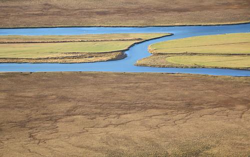 vatnsdalur vatnsdalsá húnavatnssýsla river fields patterns iceland october 2016