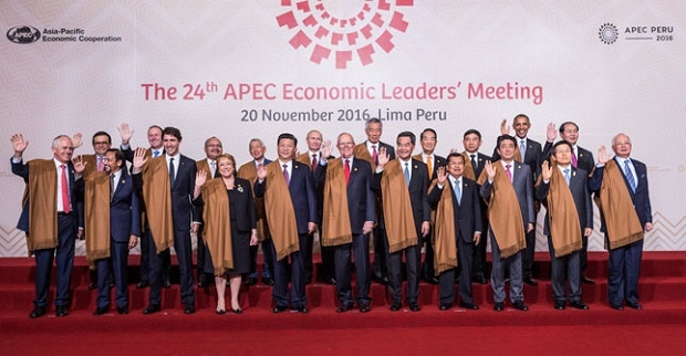 Leaders of the APEC member countries at the recent 24th APEC Economic Leader's Meeting in Lima, Peru