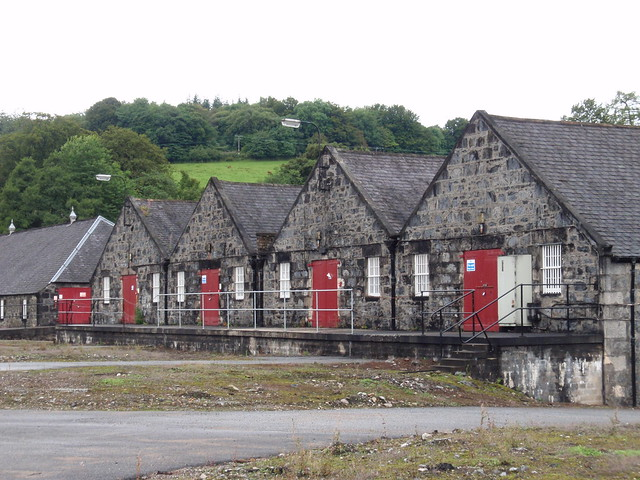 Warehouses at Parkmore distillery