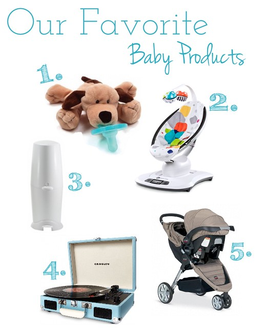 Favorite baby products, baby products, baby list