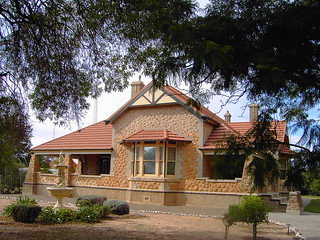 Kadina. In  the copper triangle. Fine water washed stone bungalow house. About 1920.