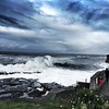 Even more ferocious tonight as Spring Tide seas batter the harbour at Craster by Fiona in Eden