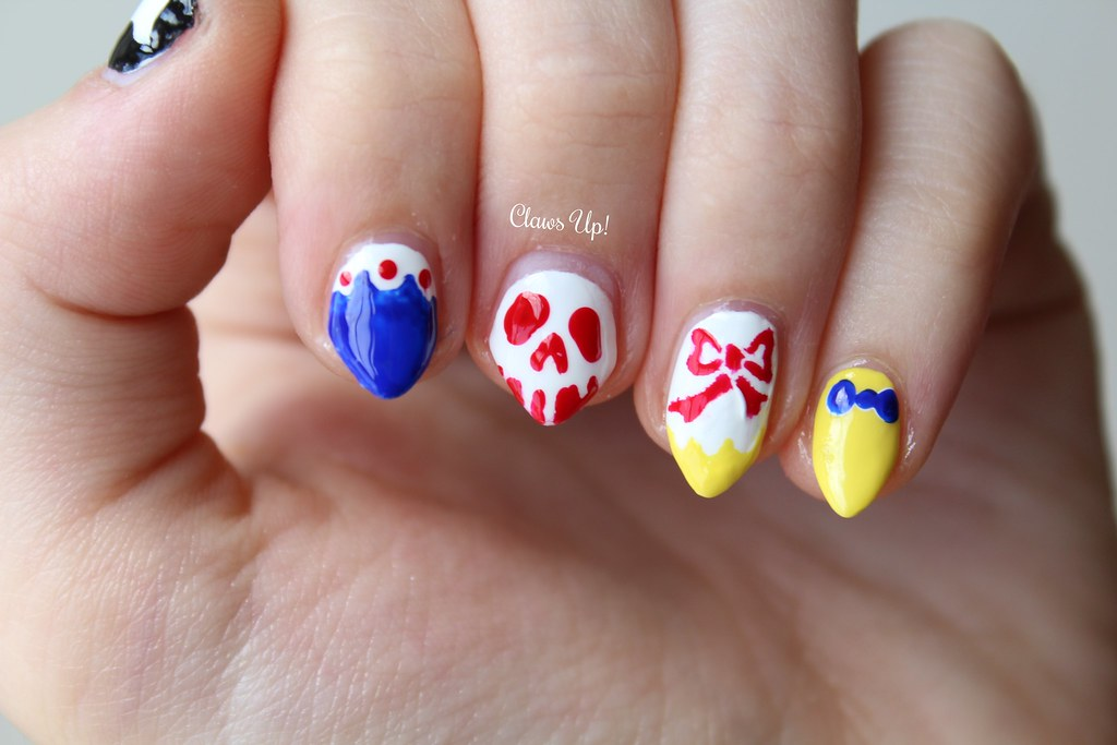 Disney princess Snow White nail art