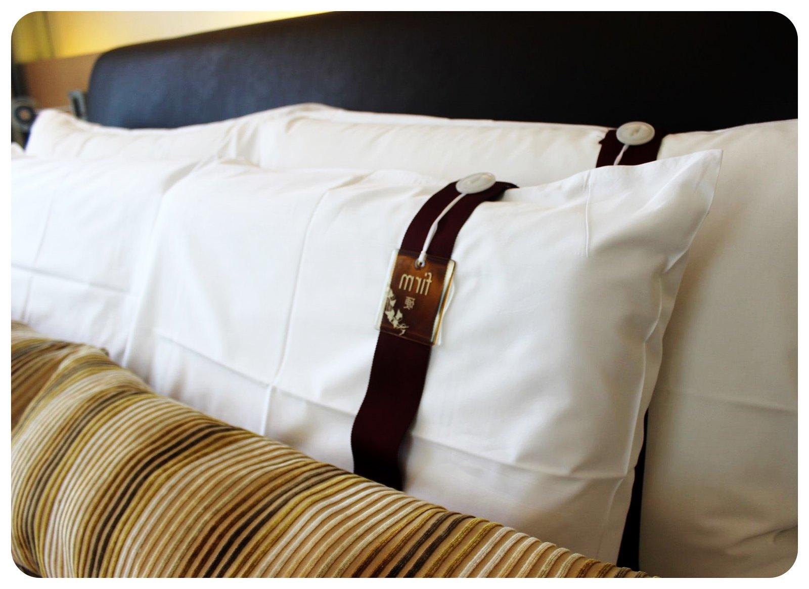 LKF hotel Hong Kong pillows