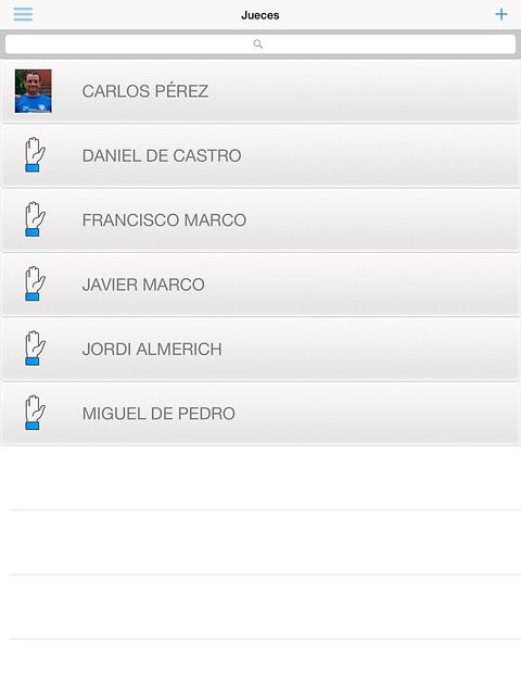 Se presenta la lista de los jueces registrados