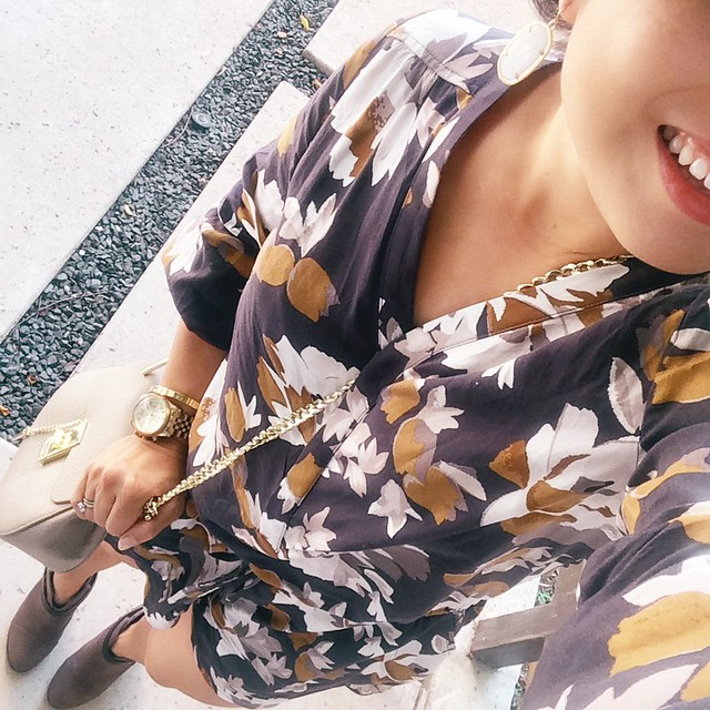 cute & little blog | old navy floral fall romper