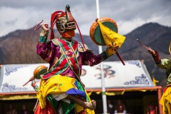 Traditional Cham dancer at the Bhutanese Nomad Festival #travel #bhutan #dance