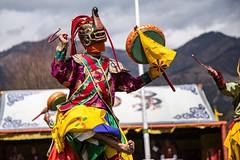 Traditional Cham dancer at the Bhutanese Nomad Festival #travel #bhutan #dance