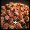 #Homemade Mini #Meatballs & #Mushrooms #CucinaDelloZio - fry the balls