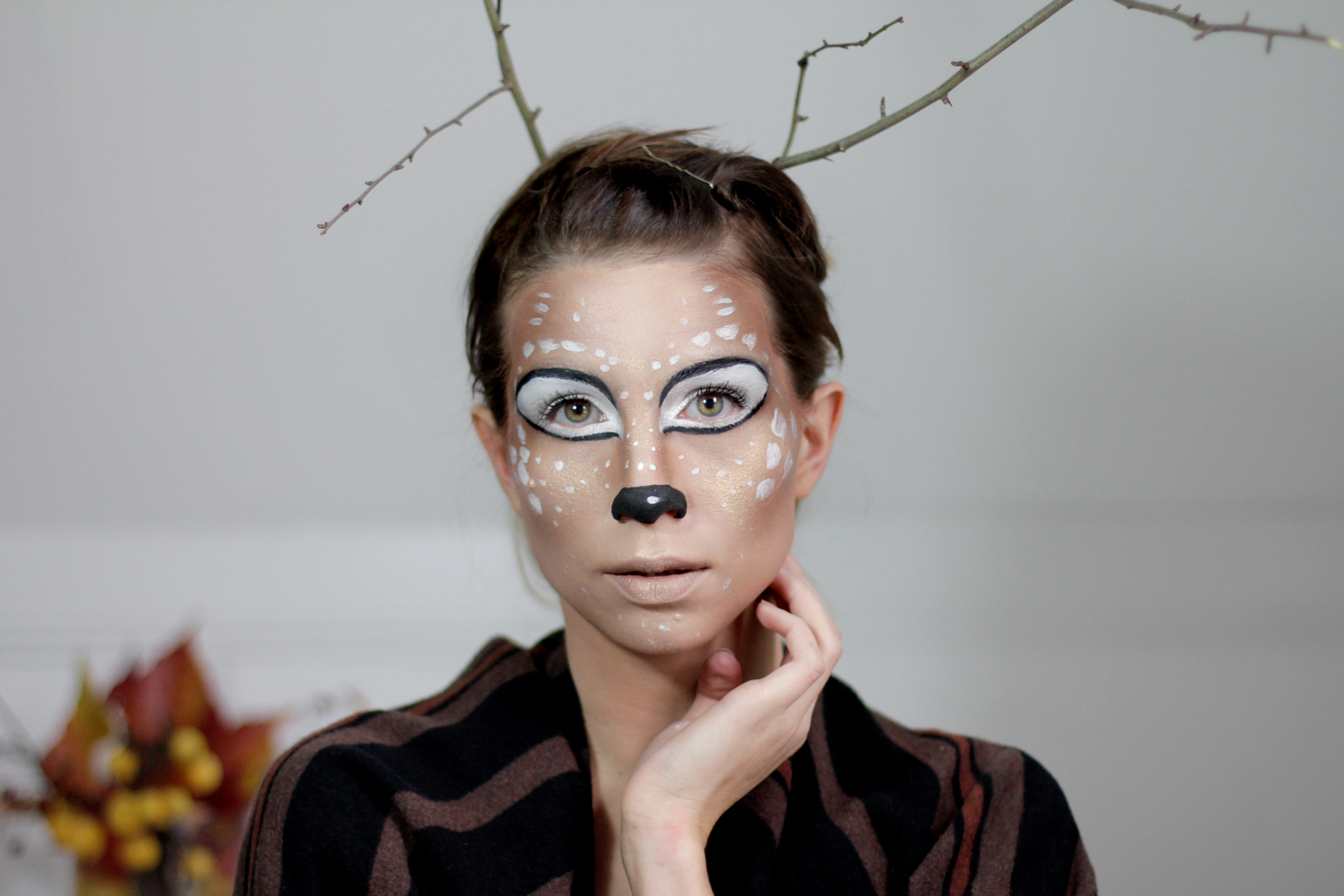 halloween bambi deer make up styling idea tutorial how to schminken grusel scary cats & dogs beauty blog beautyblogger ricarda schernus 6