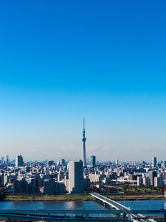 See Tokyo Sky Tree from Funabori Tower