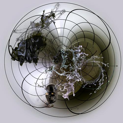 Trigonomorphose toroïdale de l'illusion centripète de l'Être à travers l'n-sphère de l'in-formation centrifuge de l'Entre actualisant une ligne-de-fuite dans les linéaments virtuels de la Voie (dào) entrouverte par le Souffle (qì) du Vide Médian (taìjítú)