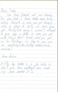 Letter to Santa, 1982