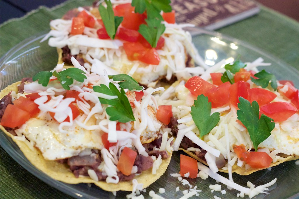 Black Bean Breakfast Tostadas Finished