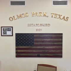 Waiting to vote on day one of the 2016 general election. My house is eight years older than the City of Olmos Park, but it's not on the
