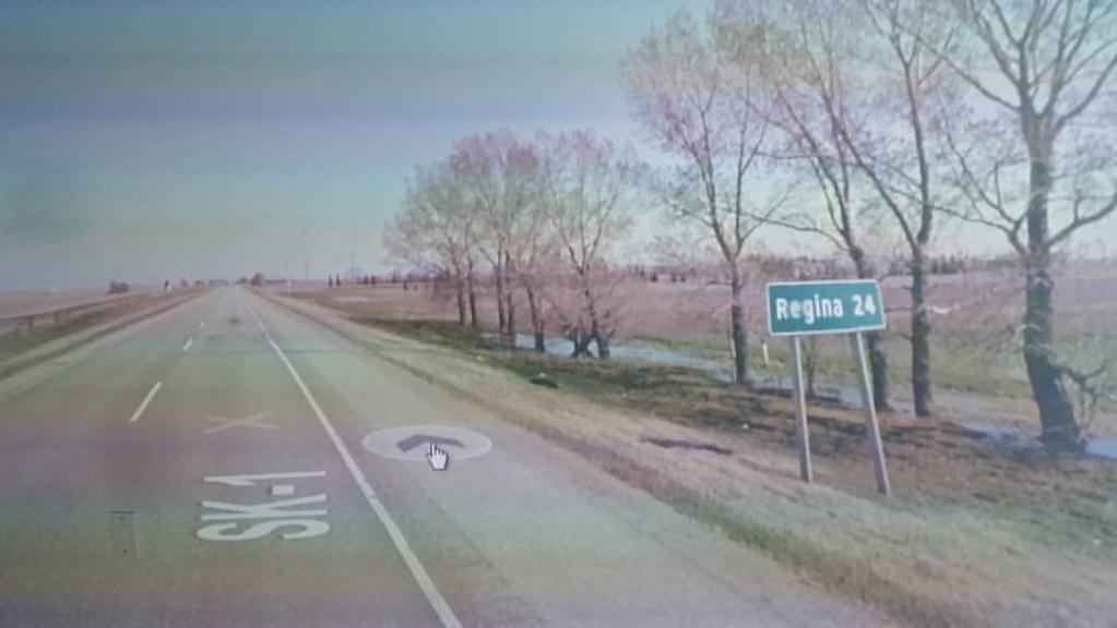 Just past Pense, 24 km to Regina #ridingthroughwalls #xcanadabikeride #googlestreetview #Saskatchewan
