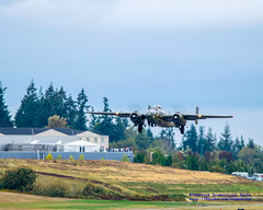 FHC B-25J Take-Off With Future of Flight in Background