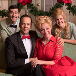 I'll Be Home for Christmas - Arvada Center 2016 - Pictured L-R: Jake Mendes (Simon Bright), Noah Racey (Dana Bright), Megan Van De Hey (Louise Bright)  and Kim McClay (Maggie Bright).  Photo: M. Gale Photography 2016