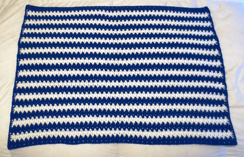 V Stitch Blanket and Scarf Pattern