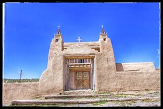 In the New Mexico village of Las Trampas,  San Jose de Gracia Church, 1776.