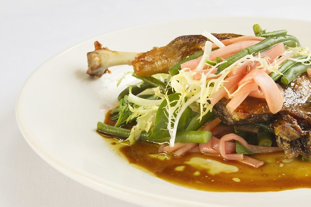 Confit duck with french beans - Royal Opera House Restaurants and Bars 2015 © ROH.2015