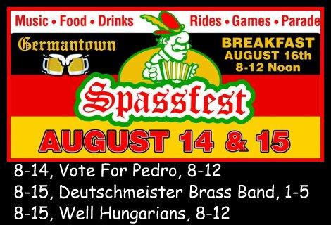 Germantown Spassfest 8-14, 8-15-15