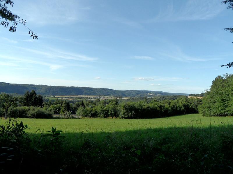 Lahntal bei Frücht - Blick Richtung Nievern