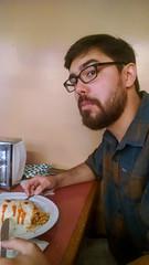 Chris eats Burrito