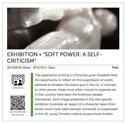 """Soft Power: A Self-Criticism"" Book and Photo Installation"