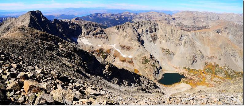 Paiute Peak & Upper Coney Lake from Mt Audubon