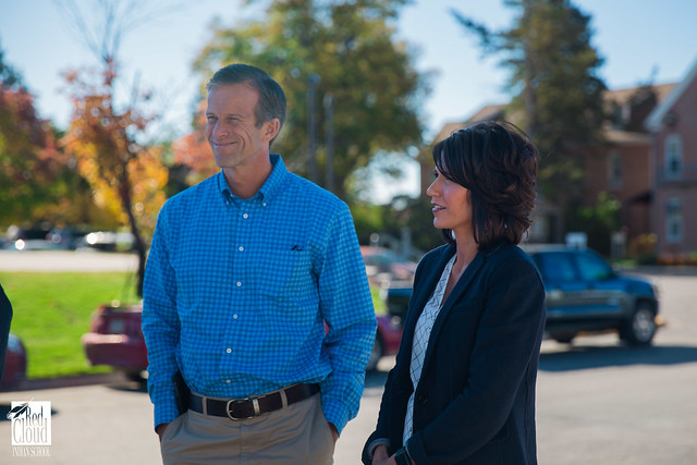 South Dakota's Senator and Representative visit campus.