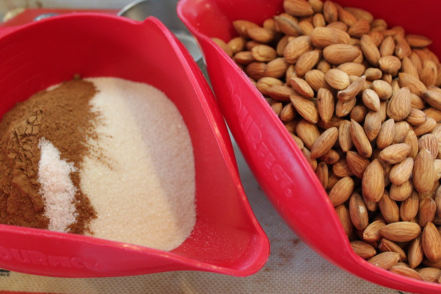 Gather all of your tools and ingredients to make Candied Nuts or Seeds