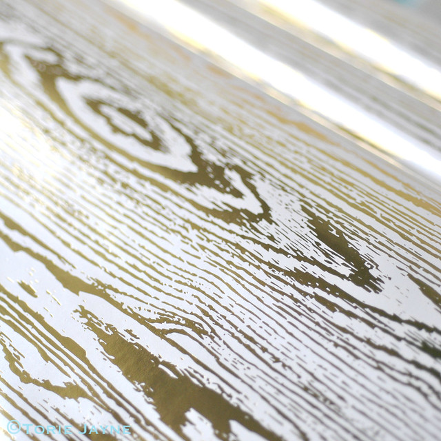 Gold wood grain paper