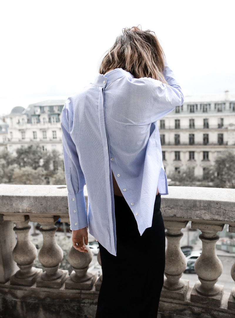 open back shirt, statement, dion lee, fashion blogger, modern legacy, paris, style, champs elysee (1 of 1)