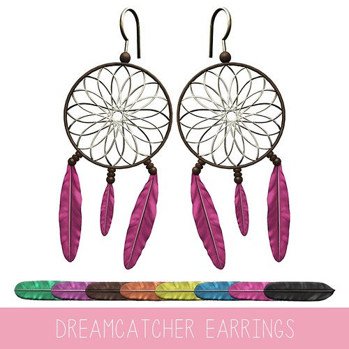 {MYNX} Dreamcatcher Earrings - Texture Menu