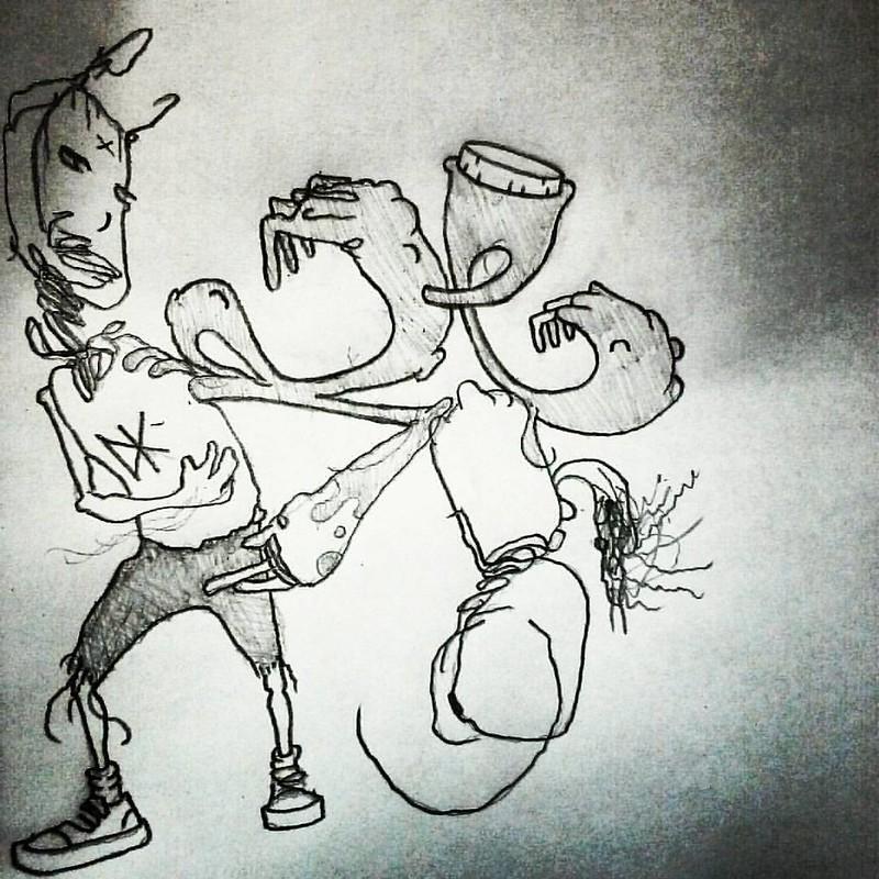 #sketch #drawing #pencil #paper #cartooning #comics #art #abstract #linedrawing #linework #graffiti #hiphop #deadkennedys #grunge #punkrock #surfing #skateboarding