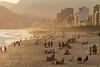 Ipanema Beach at Sunset by Luke Robinson