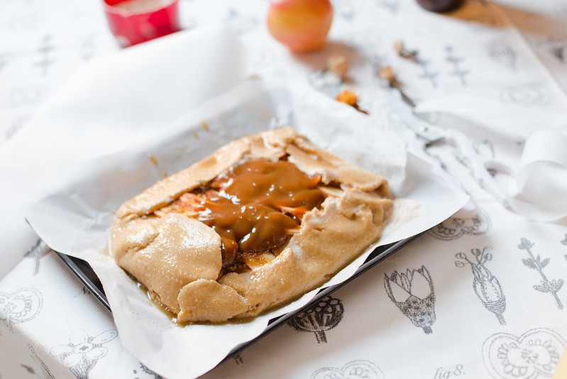 Salted Caramel Apple Galette