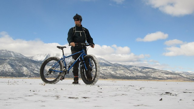 Winter fat bike ride at Washoe Lake