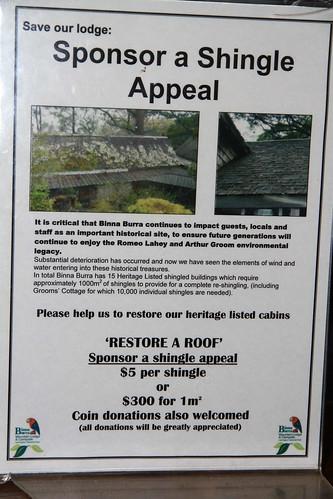 澳洲昆士蘭-Binna Burra 贊助修復歷史建物木瓦告示-20141120-賴鵬智攝