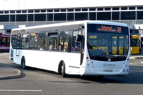 YJ59 AYX 'Arriva Midlands' No. 5995 VDL SB200 / Plaxton Centro on 'Dennis Basford's railsroadsrunways.blogspot.co.uk'
