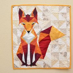 beautiful fox quilt