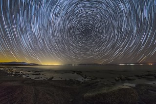 Star Trails Over the Salton Sea.