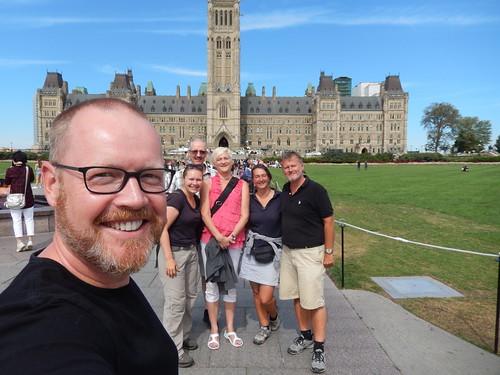 Ottawa - Parliament Hill - met Gilbert - Michele - Christiane - Birger